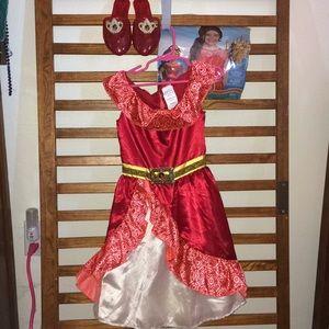 Disney Elena of Avalor 4-6x Dress 💃🏻Shoes👠 &Wig